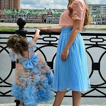 Товары для малышей ручной работы. Ярмарка Мастеров - ручная работа Фантазийное платье для девочки, платье с градиентом, платье со шлейфом. Handmade.