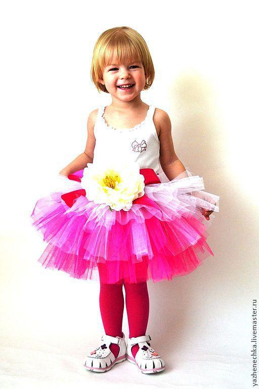 Длина юбочки = 27 см, обхват талии до 55 см. \r\nДля девочки 3-5 лет