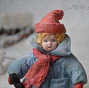 Подарки к праздникам ручной работы. Ярмарка Мастеров - ручная работа Ватная елочная игрушка ЖЕНЕК ХОККЕИСТ. Handmade.