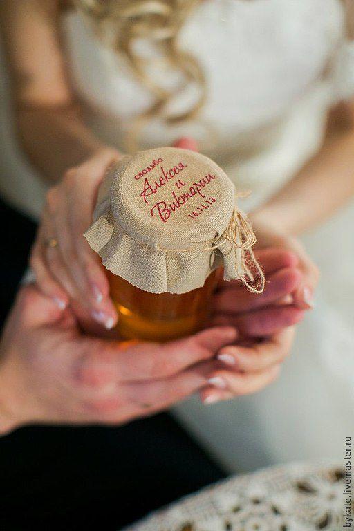 Подарки на свадьбу ручной работы. Ярмарка Мастеров - ручная работа. Купить Этикетка на баночку с вареньем/медом. Handmade. Бонбоньерка, фотосессия