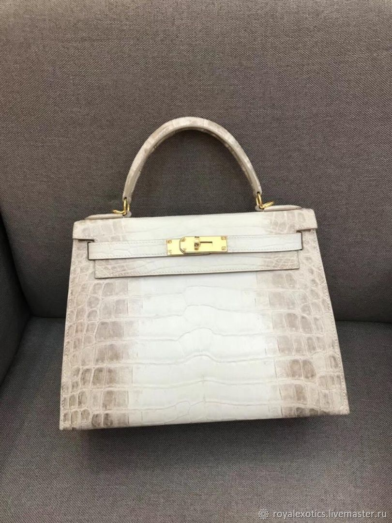 Women's handbag made of crocodile leather, in natural color, Classic Bag, Tosno,  Фото №1