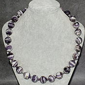 Украшения handmade. Livemaster - original item Madagascar Amethyst Natural Necklace. Handmade.