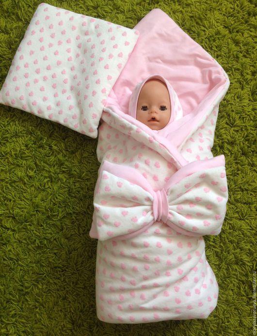 """Для новорожденных, ручной работы. Ярмарка Мастеров - ручная работа. Купить Комплект """"Моя лапочка"""". Handmade. Бледно-розовый"""