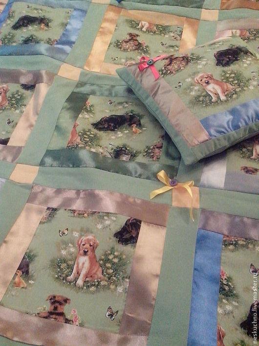 Пледы и одеяла ручной работы. Ярмарка Мастеров - ручная работа. Купить Детское покрывало Мой Дружок. Handmade. Зеленый