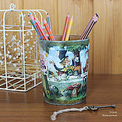 Канцелярские товары handmade. Livemaster - original item Alice in Wonderland pencil. Handmade.