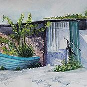 """Картины и панно ручной работы. Ярмарка Мастеров - ручная работа картина """"После рыбалки"""". Handmade."""