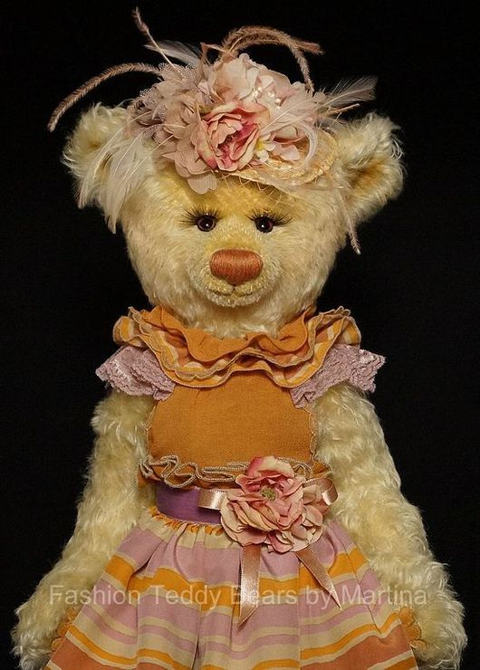 Мишки Тедди ручной работы. Ярмарка Мастеров - ручная работа. Купить Флоретта. Handmade. Желтый, авторская работа, мишка-тедди