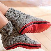 Тапочки ручной работы. Ярмарка Мастеров - ручная работа Подшей свои любимые носочки кожаной подошвой. Handmade.