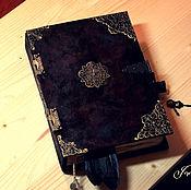 Фен-шуй и эзотерика ручной работы. Ярмарка Мастеров - ручная работа Старинная книга теней. Размер А5. гримуар блокнот. Handmade.
