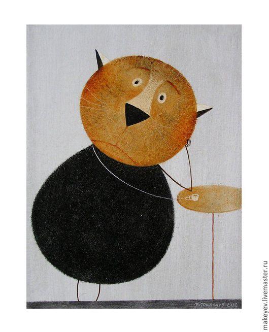Животные ручной работы. Ярмарка Мастеров - ручная работа. Купить Прощай, Париж.... Handmade. Коричневый, картина, картина в подарок