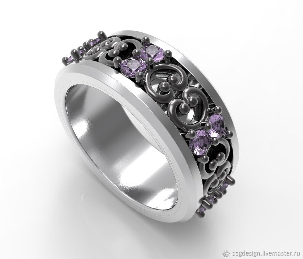Ring titanium silver blackened, Rings, Moscow,  Фото №1