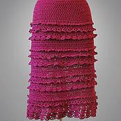 Одежда ручной работы. Ярмарка Мастеров - ручная работа Юбка Dorothy бордовая. Handmade.