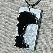Украшения ручной работы. Ярмарка Мастеров - ручная работа Шерлок и Джон - профили. 3D-кулон. Handmade.