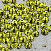 Материалы для творчества handmade. Livemaster - original item Crystals: Rhinestones-sequins lemon 5h5 mm sewn 10 PCs. Handmade.