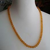 Винтаж handmade. Livemaster - original item Vintage necklaces: Faceted honey beads. Handmade.