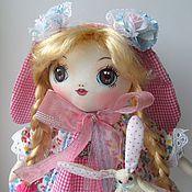 Куклы и игрушки ручной работы. Ярмарка Мастеров - ручная работа Зая, розовые ушки. Handmade.