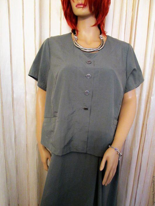 Большие размеры ручной работы. Ярмарка Мастеров - ручная работа. Купить Костюм платье + жакет. Handmade. Зеленый, большой размер