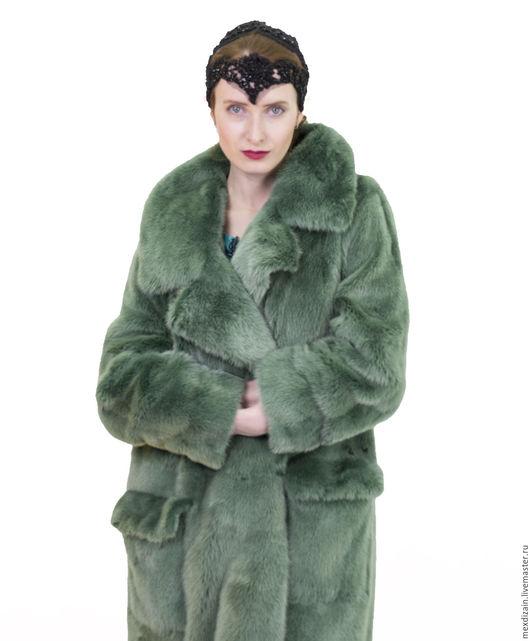 """Верхняя одежда ручной работы. Ярмарка Мастеров - ручная работа. Купить шуба """" THE Forest"""". Handmade. Зеленый, шубка"""