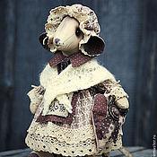 Куклы и игрушки ручной работы. Ярмарка Мастеров - ручная работа Мышка в шальке.. Handmade.