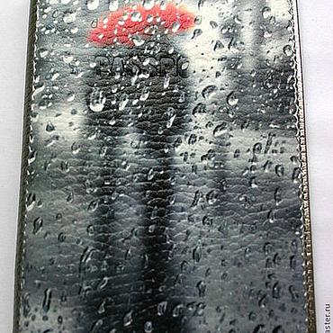 Канцелярские товары ручной работы. Ярмарка Мастеров - ручная работа Обложка для паспорта Один Дождь на двоих. Handmade.