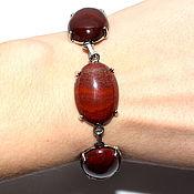 Украшения handmade. Livemaster - original item The bracelet is made of natural Urals red Jasper. Handmade.