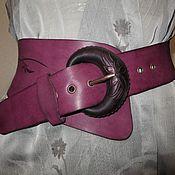 Аксессуары ручной работы. Ярмарка Мастеров - ручная работа кожаный асимметричный с пальмами. Handmade.