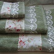 Для дома и интерьера handmade. Livemaster - original item ROSE GARDEN - towel. Handmade.