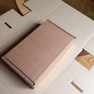 Материалы для творчества ручной работы. Ярмарка Мастеров - ручная работа Коробки: Коробка 26,5х16,5х5 см, самосборная. Handmade.