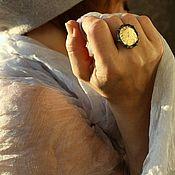 """Комплекты украшений ручной работы. Ярмарка Мастеров - ручная работа Кольцо """"Полнолуние"""" Авторское стекло. Тиффани. Handmade."""