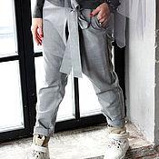 Одежда ручной работы. Ярмарка Мастеров - ручная работа Брюки Grey Casual. Handmade.