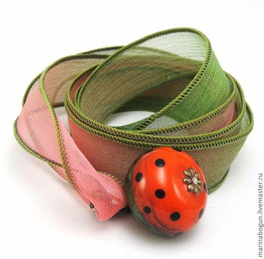 Кулоны, подвески ручной работы. Ярмарка Мастеров - ручная работа. Купить Колье с арбузиком. Handmade. Ярко-красный, арбуз, подарок