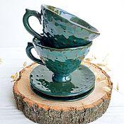 Посуда handmade. Livemaster - original item Forest tea pairs. Handmade.