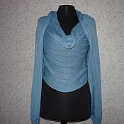 Одежда ручной работы. Ярмарка Мастеров - ручная работа Свитер-шарф трансформер Голубой. Handmade.