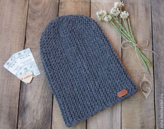 шапка вязаная бини, теплая вязаная шапка на зиму, вязаная шапка спицами, шапка бини вязаная, вязаная  шапка крупной вязки, стильная вязаная шапка, вязаная модная шапка, шапка молодежная