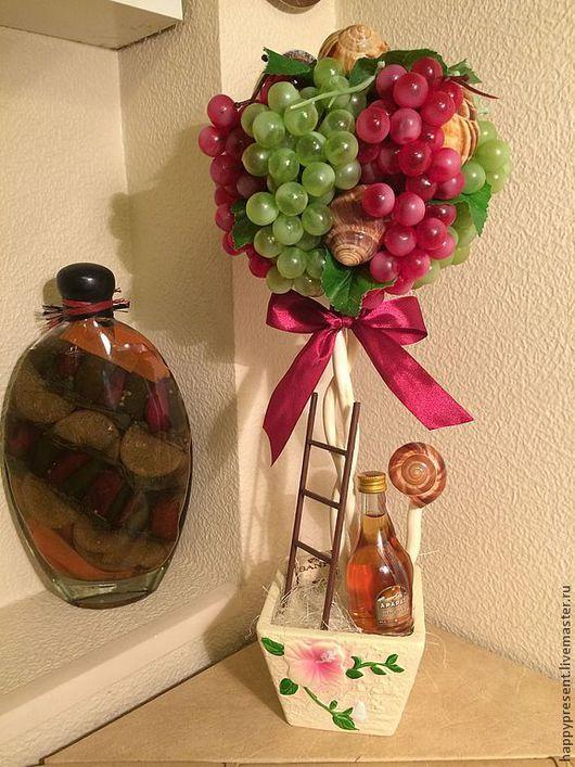 Топиарии ручной работы. Ярмарка Мастеров - ручная работа. Купить Топиарий виноградный. Handmade. Топиарий, для интерьера, подарок, раковины улиток