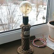 Для дома и интерьера handmade. Livemaster - original item Table lamp: Lamp in a nautical style. Handmade.