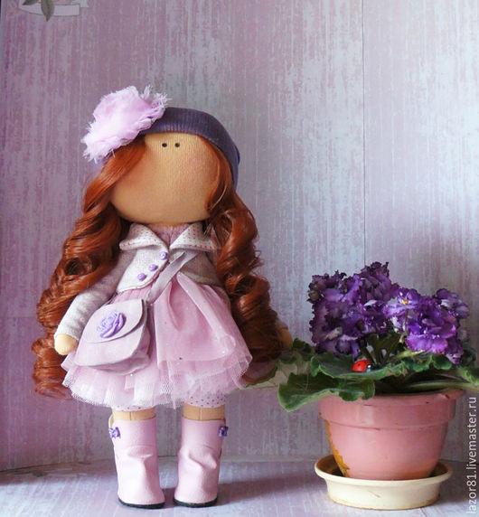 Коллекционные куклы ручной работы. Ярмарка Мастеров - ручная работа. Купить Розочка. Handmade. Бордовый, кукла интерьерная, куколка, синтепон