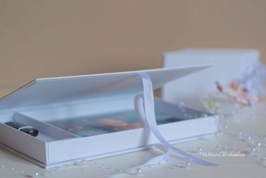 Подарочная упаковка ручной работы. Ярмарка Мастеров - ручная работа. Купить Короб для флешки и фотографий 15х22. Handmade. Белый