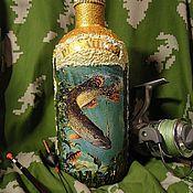 """Бутылки ручной работы. Ярмарка Мастеров - ручная работа Бутылочка  """"Рыбацкая-1"""". Handmade."""