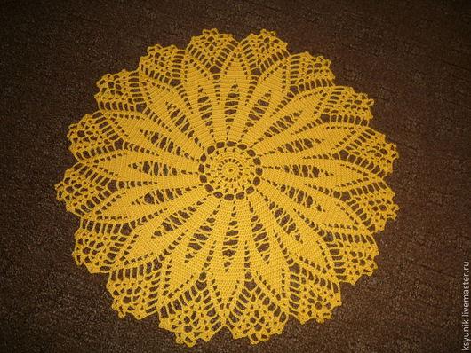 Текстиль, ковры ручной работы. Ярмарка Мастеров - ручная работа. Купить Салфетка вязаная № 031. Handmade. Желтый