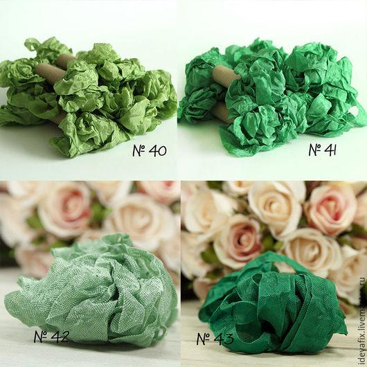 Цвета: №40 - весенние травы, №41 - луговые травы,  №42 - зеленый оникс,  №43 - изумрудная зелень.