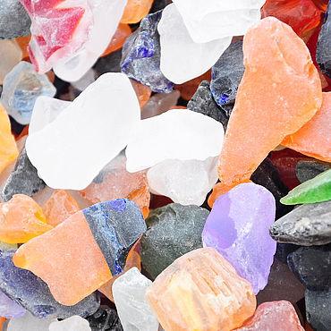 Materials for creativity handmade. Livemaster - original item Glass pebbles galtovannaya MI2 for decoration pebbles for aquarium. Handmade.