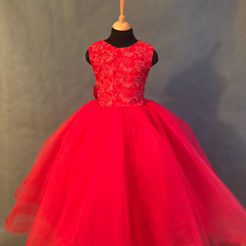 Пышное платье на выпускной балл