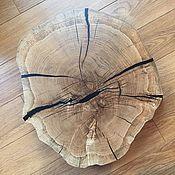 Столы ручной работы. Ярмарка Мастеров - ручная работа Столешница из спила дуба для кофейного столика (чёрная мамба). Handmade.