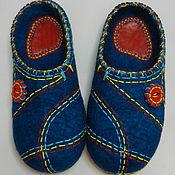 """Обувь ручной работы. Ярмарка Мастеров - ручная работа Тапки валяные домашние """"Веселые строчки"""". Handmade."""