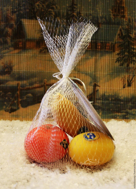Набор фруктово-витаминного мыла ручной работы. Мыло 3D. Подарки детям. Новогодние подарки. Edenicsoap.