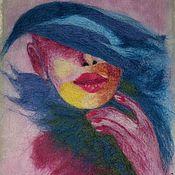 Картины и панно ручной работы. Ярмарка Мастеров - ручная работа Женщина ВАМП. Handmade.