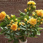 Цветы и флористика ручной работы. Ярмарка Мастеров - ручная работа Кустовые чайные розы (холодный фарфор) Керамическая флористика. Handmade.