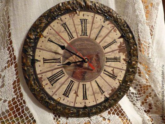 """Часы для дома ручной работы. Ярмарка Мастеров - ручная работа. Купить Часы """"Двое"""". Handmade. Коричневый, подарок, часы"""