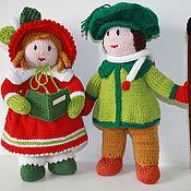 """Куклы и игрушки ручной работы. Ярмарка Мастеров - ручная работа ,,Рождественская песнь"""" вязаные куклы. Handmade."""